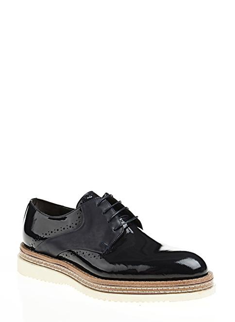D by Divarese %100 Deri Bağcıklı Ayakkabı Lacivert